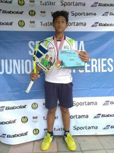 Tito Zuhda, Winner of the Boys' Singles U-14