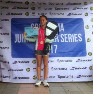 Rachel Meghan Peters, Winner of the Girls' Singles U-14
