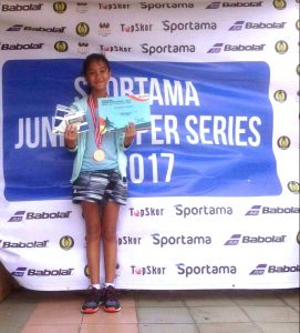 Diandra Ravita, 3rd Place of the Girls' Singles U-14